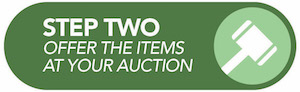 Step Two Offer the Items at Your Auction
