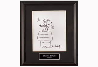 Charles Schulz Snoopy Red Baron Sketch_Fundraiasing Items