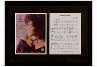 Whitney Houston Sheet Music_Fundraising Items